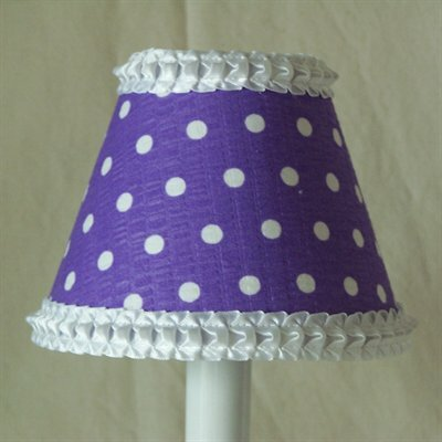 Delightful Dots 5 Fabric Empire Candelabra Shade Shade Color: Purple