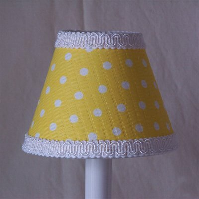 Delightful Dots 5 Fabric Empire Candelabra Shade Shade Color: Yellow