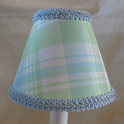 Taffy 11 Fabric Empire Lamp Shade Color: Blue/Green