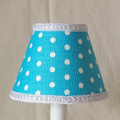 Delightful Dots 5 Fabric Empire Candelabra Shade Shade Color: Blue