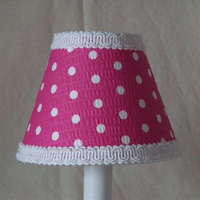 Delightful Dots 5 Fabric Empire Candelabra Shade Shade Color: Pink