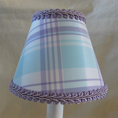 Taffy 11 Fabric Empire Lamp Shade Color: Blue/Lavender