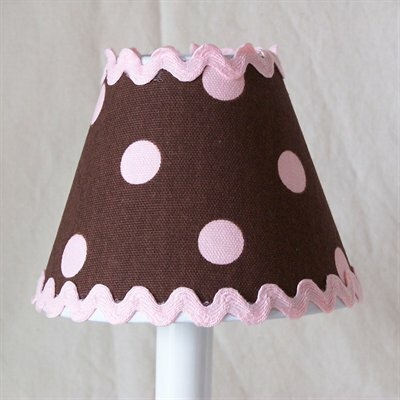 Chocolate Ric-Rac 5 Fabric Empire Candelabra Shade