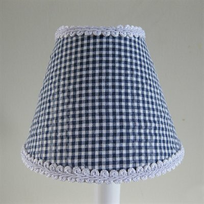 So Seersucker 11 Fabric Empire Lamp Shade Color: Navy Blue