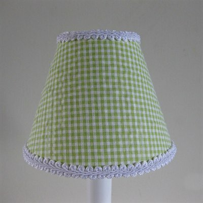 So Seersucker 11 Fabric Empire Lamp Shade Color: Lime