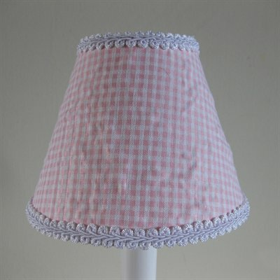 So Seersucker 5 Fabric Empire Candelabra Shade Color: Pink