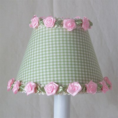 Gardens of Gingham 5 Fabric Empire Candelabra Shade Color: Green