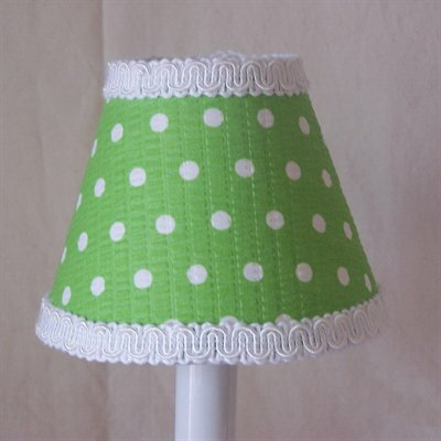 Delightful Dots 5 Fabric Empire Candelabra Shade Shade Color: Green