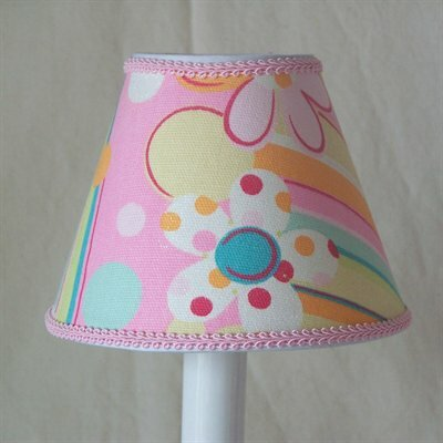 Flower Power 5 Fabric Empire Candelabra Shade
