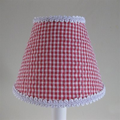 So Seersucker 11 Fabric Empire Lamp Shade Color: Red