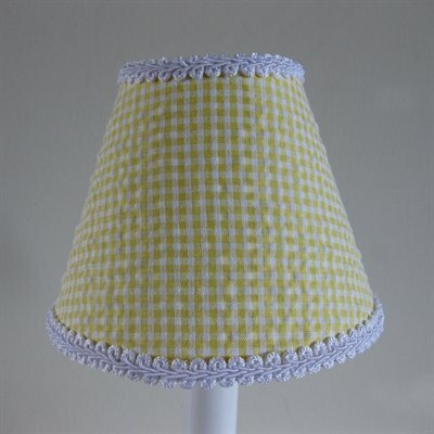 So Seersucker 5 Fabric Empire Candelabra Shade Color: Yellow