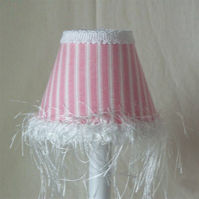 Cotton Candy Stripe 5 Fabric Empire Candelabra Shade