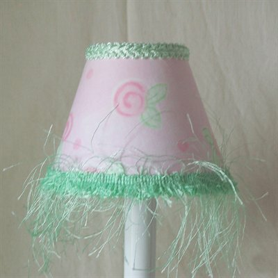 Dainty Blush 5 Fabric Empire Candelabra Shade
