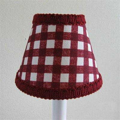 Checked Pickup 5 Fabric Empire Candelabra Shade