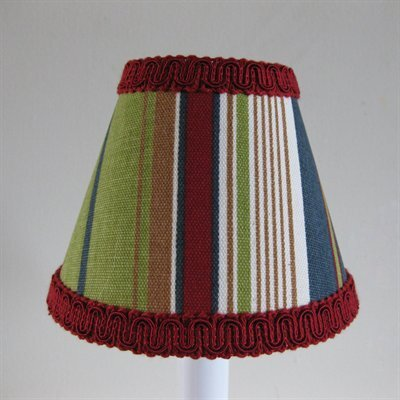 Varsity Stripe 5 Fabric Empire Candelabra Shade