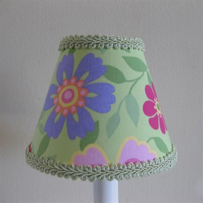 Wild Vine Blossoms 5 Fabric Empire Candelabra Shade