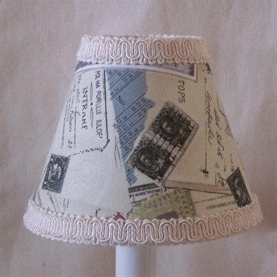 World Traveler 5 Fabric Empire Candelabra Shade