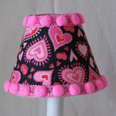 Funky Hearts 5 Fabric Empire Candelabra Shade