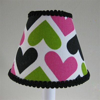 Wild Hearts 5 Fabric Empire Candelabra Shade