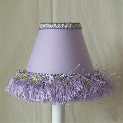 5 Fabric Empire Candelabra Shade Color: Lavendar