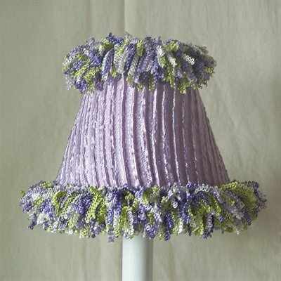 5 Fabric Empire Candelabra Shade Color: Purple