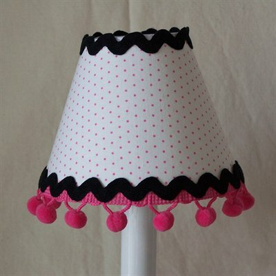 Polka Dot 5 Fabric Empire Candelabra Shade
