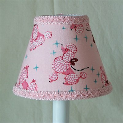 Prissy Poodle 5 Fabric Empire Candelabra Shade