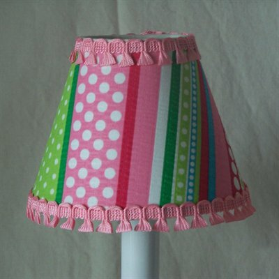 Stripes Gone Crazy 5 Fabric Empire Candelabra Shade