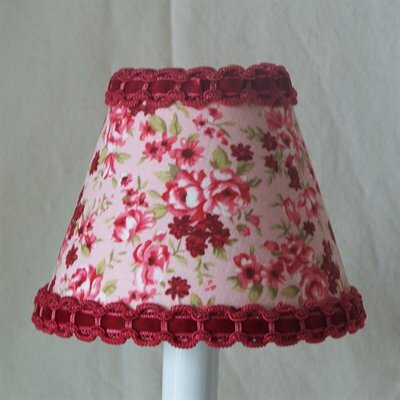 Raspberry Rose 11 Fabric Empire Lamp Shade