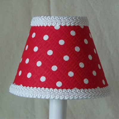 Cherry Dot 11 Fabric Empire Lamp Shade
