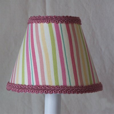 Melon Stripes 5 Fabric Empire Candelabra Shade