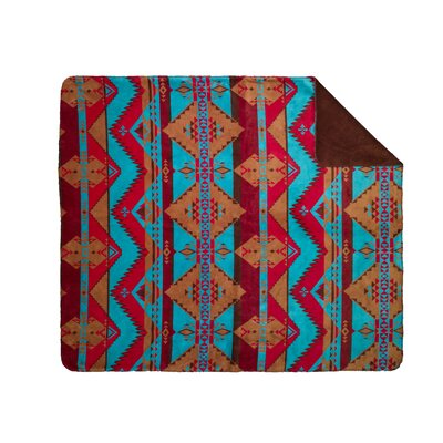 "Denali Acrylic Native Journey Double-Sided Throw - Size: 70"" H x 60"" W x 0.25"" D, Color: Native Trail at Sears.com"