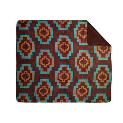 Furniture-Aztec Double Sided Throw Size 70 H x 60 W x 0.25 D