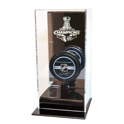 Chicago Blackhawks Stanley Cup Champions High Rise Puck Display Including Team Puck NHL-307-EL-SC13CHI