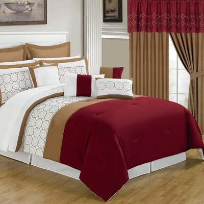Sarah 24 Piece Bed-In-A-Bag Set Size: Queen