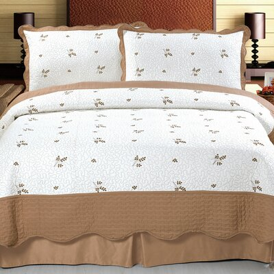 Peyton Embroidered Quilt Set Size: King