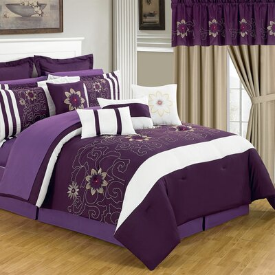 Amanda Bed-In-A-Bag Set Size: Queen