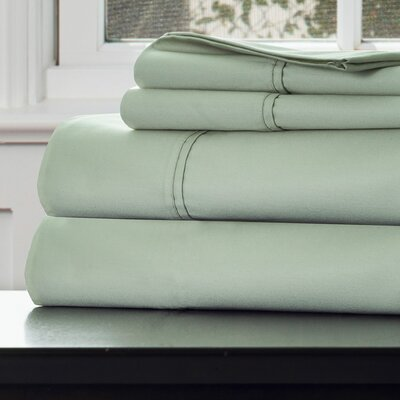 1000 Thread Count Cotton Sateen Sheet Set Color: Green, Size: Queen