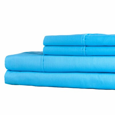 300 Thread Count Sheet Set Color: Sky Blue, Size: King