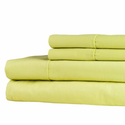 300 Thread Count Sheet Set Color: Green, Size: King
