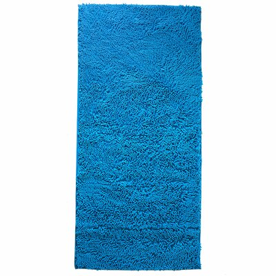 High Pile Blue Solid Area Rug Rug Size: Rectangle 26 x 5