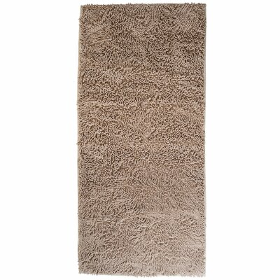 High Pile Ivory Solid Area Rug Rug Size: Rectangle 26 x 5