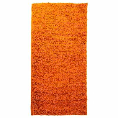 Scarlette High Pile Orange Solid Area Rug Rug Size: Rectangle 1'9