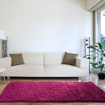 Juana High Pile Pink Solid Area Rug Rug Size: Rectangle 26 x 5