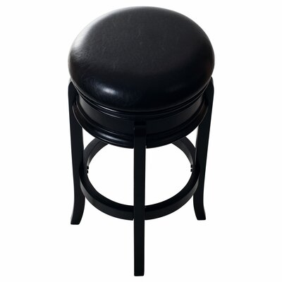 29 inch Swivel Bar Stool Base Finish: Black