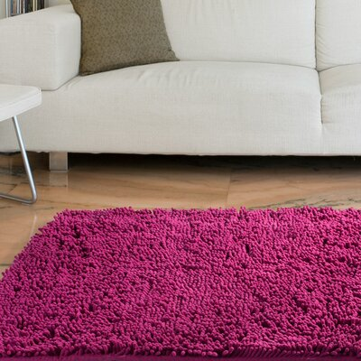 High Pile Pink Solid Area Rug Rug Size: Runner 26 x 5