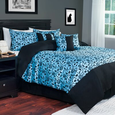 Victoria 7 Piece Comforter Set Size: King