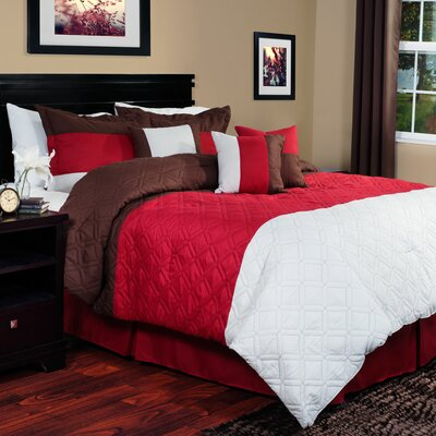 Layla 7 Piece Comforter Set Size: Queen