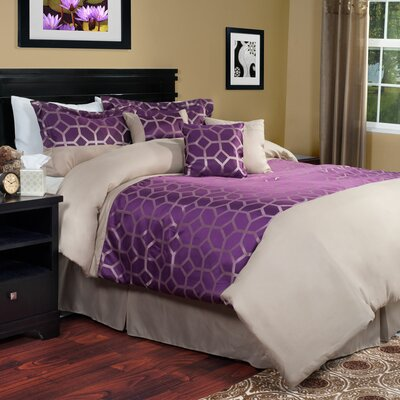 Aria 7 Piece Comforter Set Size: King
