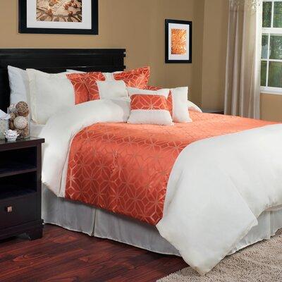 Morgan 7 Piece Comforter Set Size: Queen